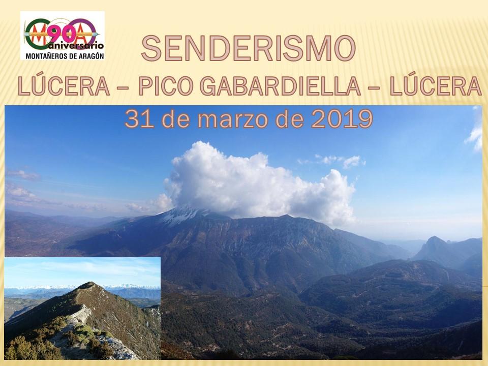 """Senderismo """"Pico Gabardiella"""""""