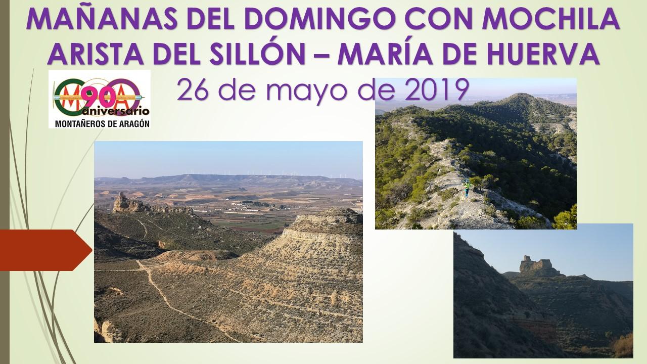 Mañanas del domingo con mochila – Arista del Sillón – María de Huerva